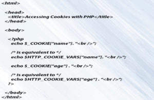 Accessing Cookies with PHP