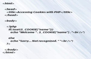 (PHP-Cookies) Accessing Cookies with PHP