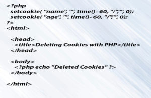 Deleting Cookie with PHP